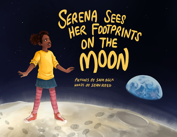 Serena sees her footprints on the Moon